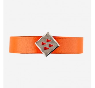 Orange leather strap for...